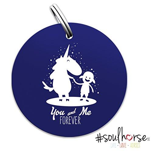 """Pferde Glücksmarke """"#You and Me forever"""" in blau von Soulhorse für Halfter, Trense und Zaumzeug"""