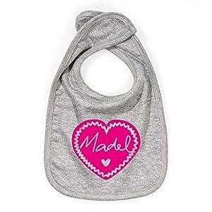 Baby Lätzchen >Madel< / Mädchen, Pink, Bib, München, Bayern, Herz, Geburt, Ostern, Muttertag, Easter, Geschenk, Special, Present