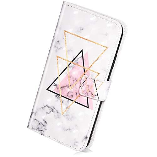 Herbests Kompatibel mit Samsung Galaxy A9 2018 Handyhülle Handytasche Glitzer Luxus Bling Glänzend Leder Tasche Brieftasche Schutzhülle Klappbar Leder Hülle Flip Cover Ständer,Dreieck