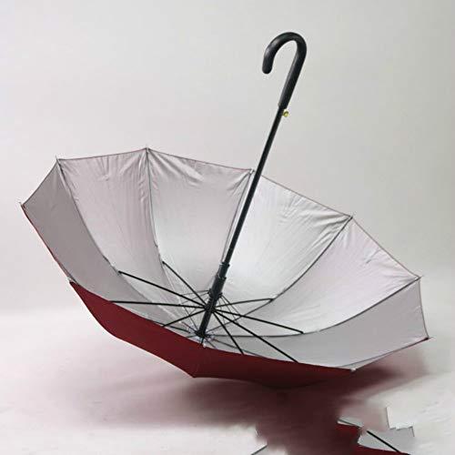 Curved Handle Automatic Umbrella Uv Protection Sun Shade Vinyl Umbrella -