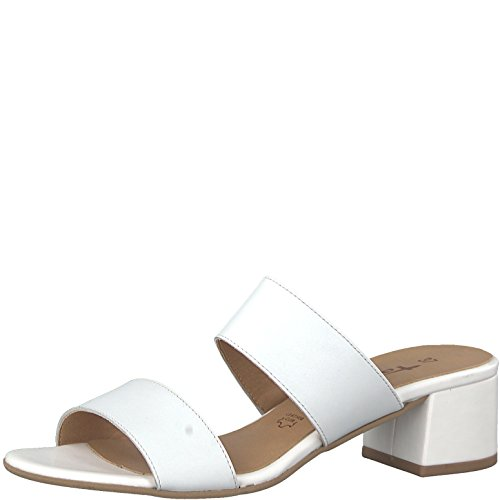 Tamaris Damen 27231 Pantoletten White Leather