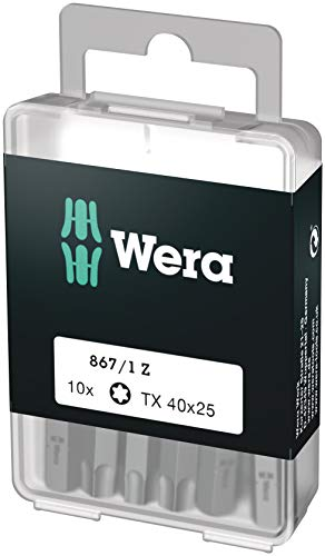 Wera Bit-Sortiment, 867/1 TX 40 DIY, TX 40 x 25 mm (10 Bits pro Box), 05072412001
