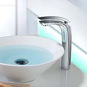 Home Lody® chromé haute Chromé Mitigeur de lavabo robinet robinet de lavabo mitigeur Bras avec DVGW/KTW