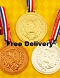 GOLD, SILVER & BRONZE MEDALS, OLYMPICS/SPORTS DAY PRIZES - Henbrandt - amazon.co.uk