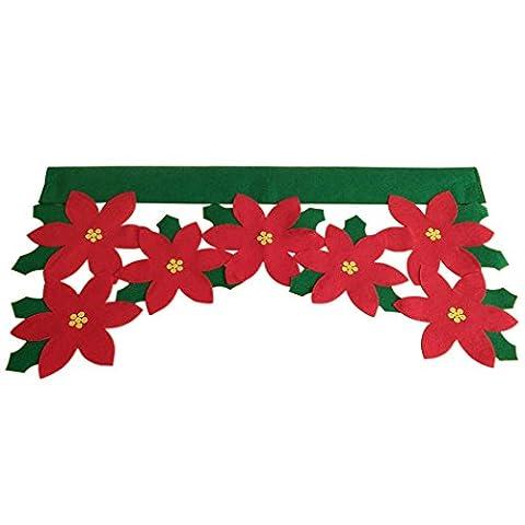 Christmas Valance, Outgeek Blume Blatt Fenster Behandlung Valance Weihnachten Fenster Dekoration