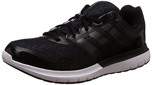 adidas Men's Duramo Elite 2M Black, Silver and Dark Grey Mesh Sport Running Shoes - 11 UK  available at amazon for Rs.3059