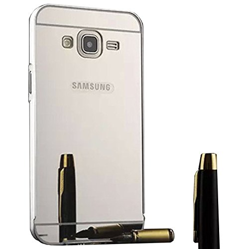 Funda Espejo Aluminio Metal Carcasa para Samsung Galaxy Grand Neo Plus / Grand Neo / Grand Lite GT-i9060i i9060 i9062 i9082 (5 pollici) Color Plata