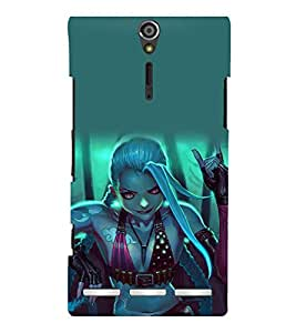 printtech Beautiful Anime Girl Back Case Cover for Sony Xperia S Lt26i