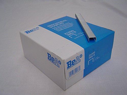 Preisvergleich Produktbild von TI-PO 0,76€/1000 - BeA-Tacker-Klammern 380/8 mm NK, 1 Packung 21.000 Stück