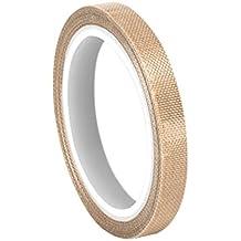 """TapeCase 0.125–5-5151luz marrón PTFE cinta de tela, convertir de cristal 3M, 100a 500grados F rendimiento Temperatura, 0.0053""""de grosor"""