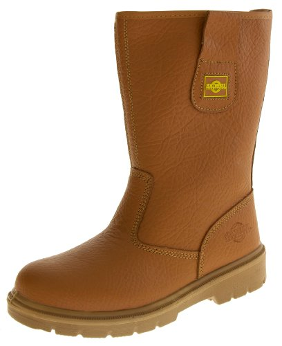 Footwear Studio - Herren Leder Northwest Territory Sichheits Rigger Arbeitsstiefel Mit Zehen Stahlkappen - Hellbraun, Leder, 42 - Rigger Boot