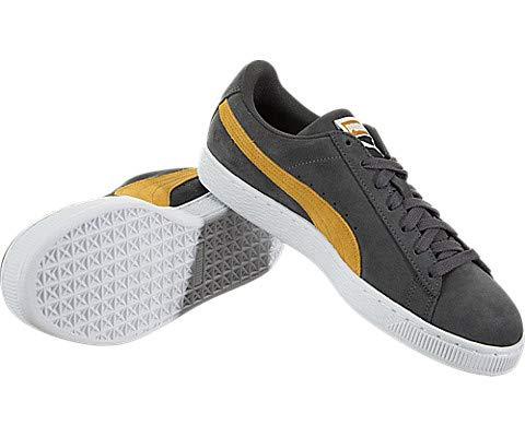 PUMA Men s Suede Classic Sneaker  Iron Gate-Buckthorn Brown White  9 5 M US