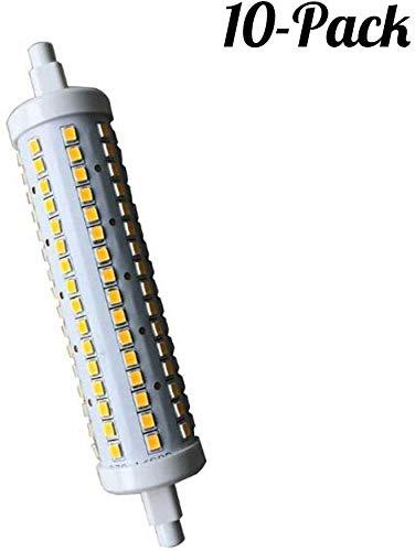 JYGZD Bulbs@ R7s LED 15 Watt warmweiß 189 mm x 28mm (sehr Kleiner Durchmesser) Leuchtmittel Lampe Halogen j189 Fluter Brenner Scheinwerfer Flutlicht - 10-Packs [Energieklasse A+],Coolwhite