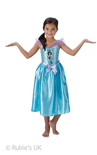 Rubie 's Offizielles Girl 's Disney Princess Märchen Jasmin Kostüm - groß (Jasmin Fancy Dress Kostüm)