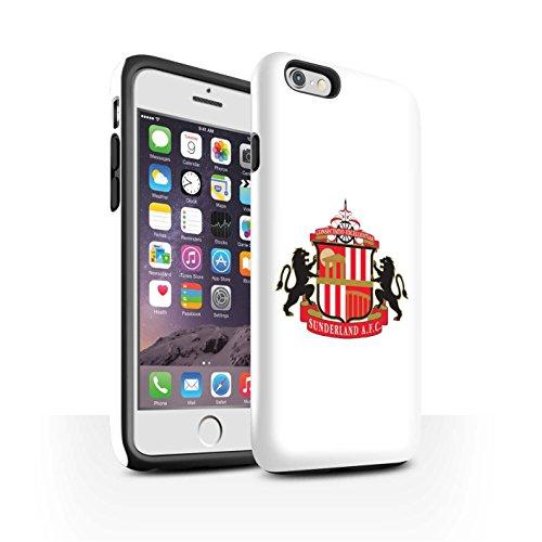 Offiziell Sunderland AFC Hülle / Glanz Harten Stoßfest Case für Apple iPhone 6 / Pack 6pcs Muster / SAFC Fußball Crest Kollektion Weiß