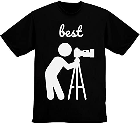 Best Cameraman Ever, Camera On Tripod Men's T-Shirt XX-Large