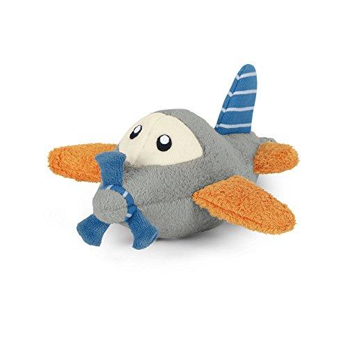 Sterntaler Spielfigur Flugzeuge, Mit Rassel und Knisterpapier, Alter: Für Babys ab der Geburt, 21 cm, Grau