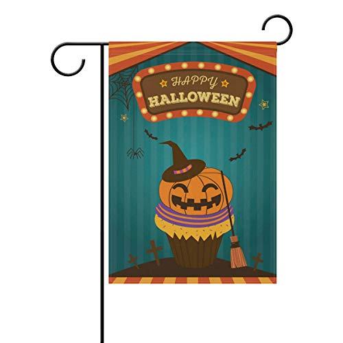 SUNOP Polyester-Garten-Flagge, Cupcake-Banner 30,5 x 45,7 cm, für den Außenbereich, Haus, Garten, Blumentopf, Dekoration, Partyzubehör