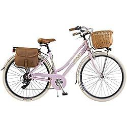 Vélo Citybike Byciclette CTB Femme Dame Vintage Retro Via Veneto Aluminium Rose