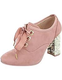 Zapatos para mujer Zapatillas Mini tacón Botines al tobillo Ital-Design