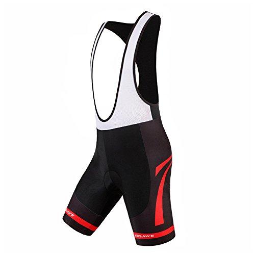 WOSAWE Gel 4d pour Homme Cyclisme rembourré Cuissard Respirant à séchage  Rapide Noir Léger a7a4987534f2d