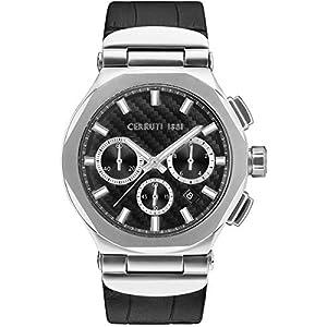 Orologio uomo–Cerruti 1881–Cronografo–Bracciale Pelle–crwa180sn02bk