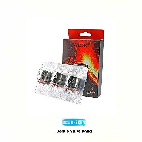 Authentique SMOK TFV12 Resistance 0,15 Ohm 3 BEAST Atomiseur (V12 - Q4 Resistance) Sans Tabac Ni Nicotine Cigarette Electronique