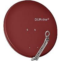 "DUR-line SELECT 75cm Rot - 3 x Test ""Sehr gut"" - Aluminium Satellitenschüssel Parabolantenne"