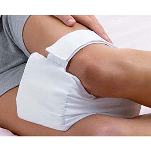 Kniekissen, Memory Kniekissen mit Gummiband für Seitenschläfer, Rückenverletzungen, Hüftschmerzen, Schwangerschaft, antibakteriell, abnehmbarer Bezug