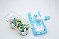 Bluesky Plastic Food Processor Vegetable Cutter, Chopper, Mixer, Kneader, Lassi maker, Egg beater, Frother (color:blue)