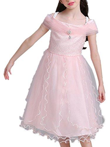 Für Sailor Cosplay Miete Moon Kostüm (Beunique Mädchen Kinder Lace Kleider Festlich Lang Brautjungfern Ballkleid Kleid Prinzessin Hochzeit Party Kleid Gr.)
