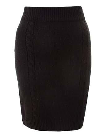 Vila Bauda Knit Skirt - Black - Womens - XX-Large