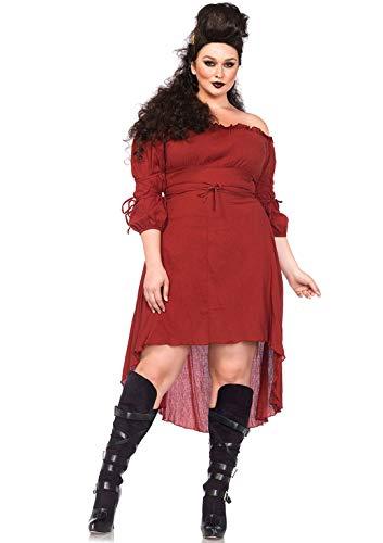 Leg Avenue 2700X - Feinmaschigen Bauern kleid, Größe 1X-2X ( EUR 44-46) (Bauer Kostüm Übergröße)