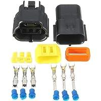 PKA - Terminales de conector de cable impermeables de 3 pines para motocicleta, coche eléctrico o camión