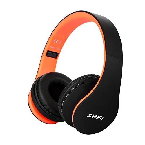 JIUHUFH Wireless Headset über Ohr Bluetooth Kopfhörer mit Integriertem Mikrofon für PC/Handys
