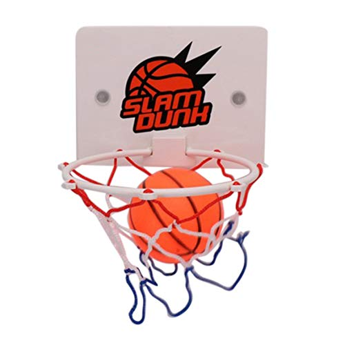 Kostüm Fan Basketball - bienddyicho Portatile Divertente Mini Basketball Hoop Toys Kit Indoor Home pallacanestro Fans Sport Gioco Toy Set Bambini Bambini Adulto-Bianco