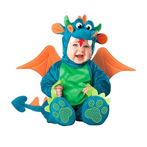 Drachen Kostüm Hüte - NormCorer - Cute Kleinkinder Baby Kostüm - Halloween Kleinkind Faux Tier verkleiden Sich mit Hut und Schuhe für Cosplay (12-18 Monate, Drachen)
