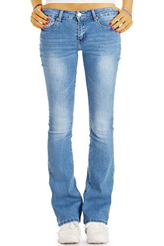 Bestyledberlin Damen Boot-Cut Jeans, Vintage Denim Schlagjeans, Ausgestellte Slim Fit Hüftjeans j72i 34/XS