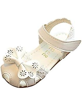 BYSTE Scarpe da Bambina Scarpe da Principessa Pizzo Bowknot Scarpe da Principessa Sandali Scarpe Singole smerigliata...