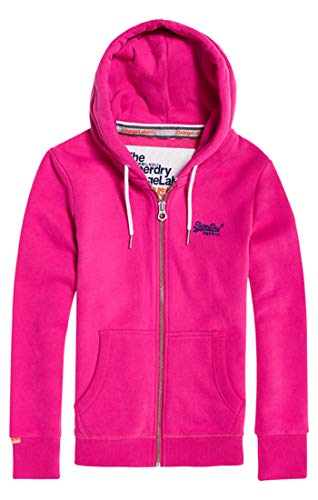Superdry Damen ORANGE Label Ziphood Kapuzenpullover, Ruby Pink VM9, M (Herstellergröße: 12)