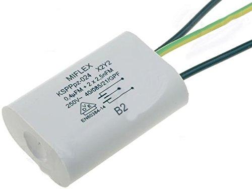 Miflex X2 Kondensator Entstörkondensator KSPPPpz-024 0,4uF 2x 2,5nF -