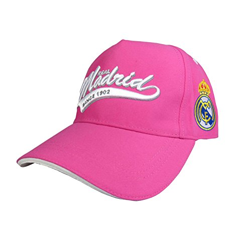 81d27d7482d63 GORRA OFICIAL – REAL MADRID – ROSA ADULTO COTTON LIKE