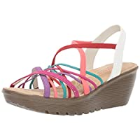 Skechers Women's Parallel-Crossed Wires-Multi Gore Slingback Sandal Wedge, 11 M US