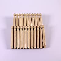 Wooden Dolly Pegs for Kids Making Animals & People Pack of 12 Art Craft Pins by BCreative ®