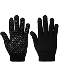 Winter Knit Gloves Thick Warm Touchscreen Knit Gloves Outdoor Anti-skid Windproof Gloves in Cold Weather