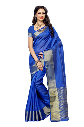 Mimosa Tassar Silk Saree (2085-Volt_Violet)  available at amazon for Rs.749