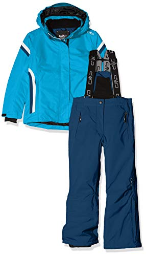CMP Feel Warm Flat, Set Giacca E Pantaloni Bambine e Ragazze, Blu Jewel, 164