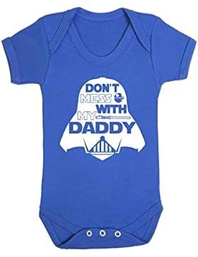 Don' t Mess with My Daddy Star Wars, tutina gilet bebè tutina divertente Jedi