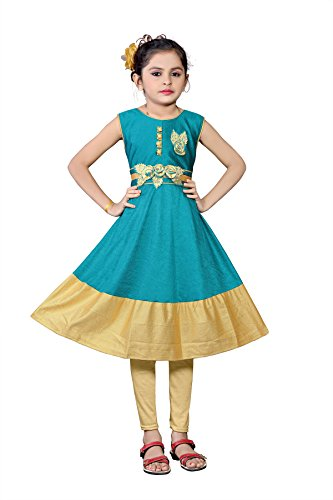 White World Baby Girls Sea Color Birthday Party wear Frock Dress(8_9__years)
