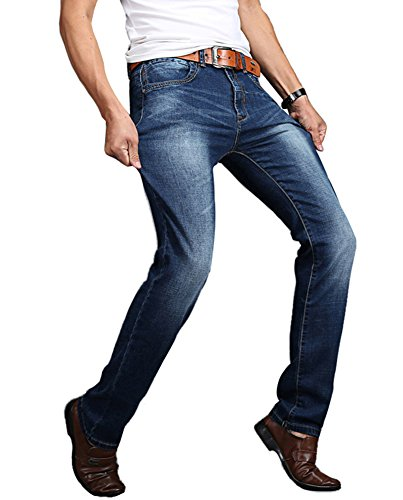 SK Studio Herren Jeans Jeanshose Stretchanteil Baumwolle Relaxed Straight Leg Heavy Denim Jean Blau